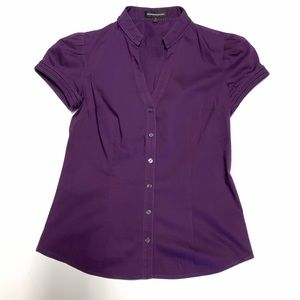 Express Design Studio shirt small button up purple